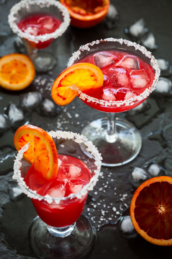 simple blood orange margaritas on the rocks recipe from scratch.
