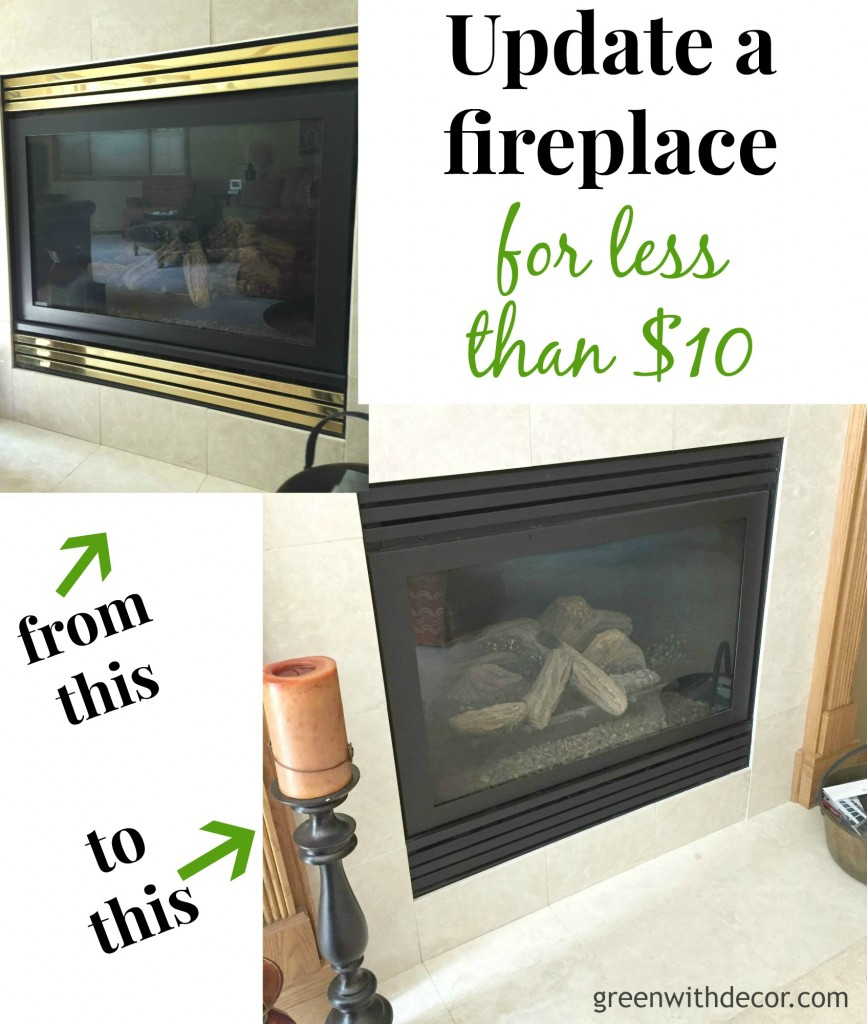 How to update a fireplace with spray paint