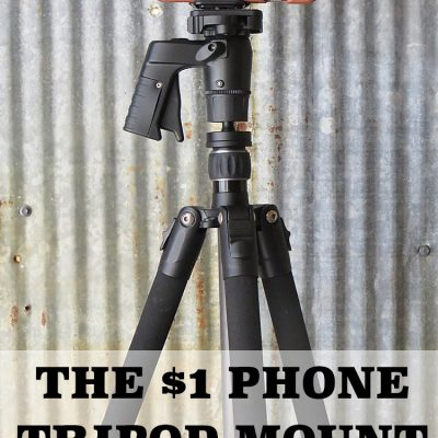 How to Make a Phone Tripod Mount for $1 with this Dollar Store Hack