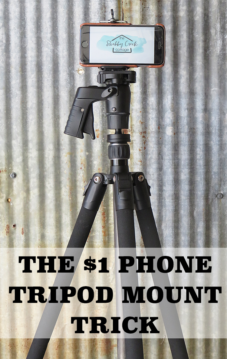 how to put a phone in to tripod