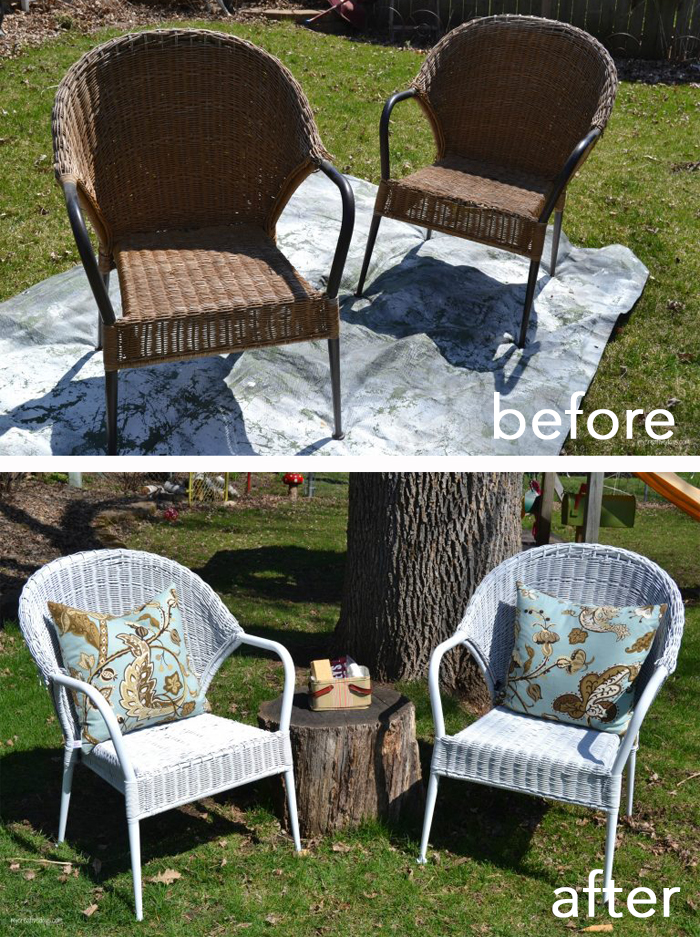Give outdoor furniture a quick makeover with the help of a coat of outdoor spray paint