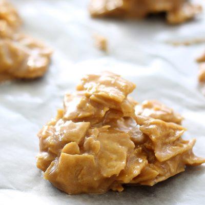 Peanut Butter Tortilla Chip No Bake Cookies