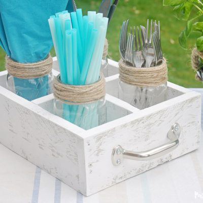 DIY Mason Jar Utensil Caddy