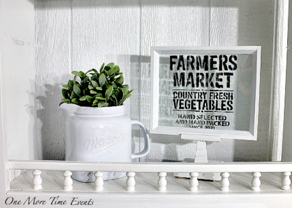 Cute farmhouse decor idea made from a dollar tree frame and candlestick!