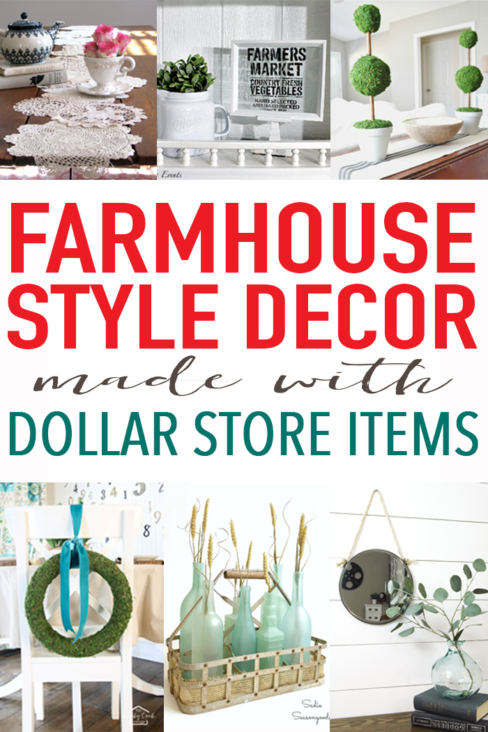 farmhouse decor from the dollar store? oh yes!
