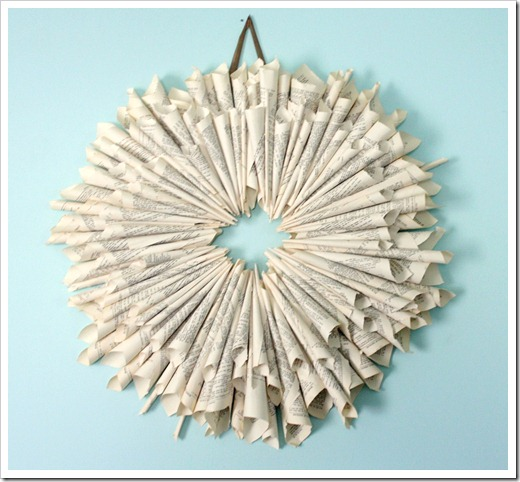 farmhouse decor from the dollar store: grab a cheap book to make this chic book page wreath