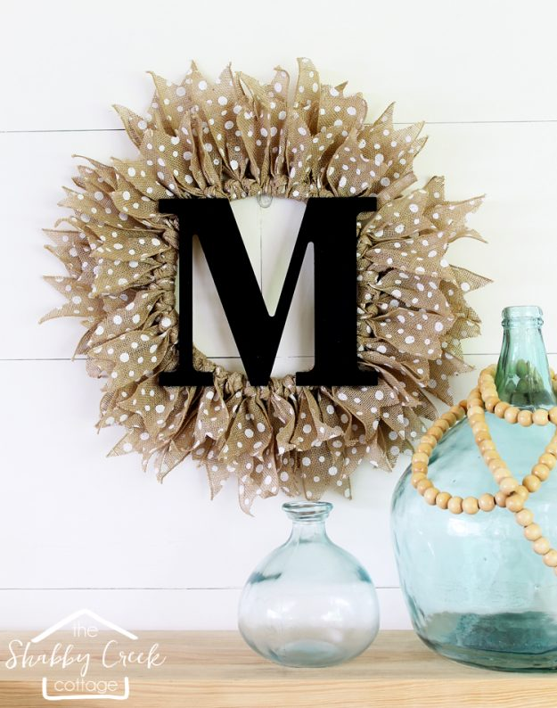 Fall Decorating Ideas with a Burlap Door Wreath