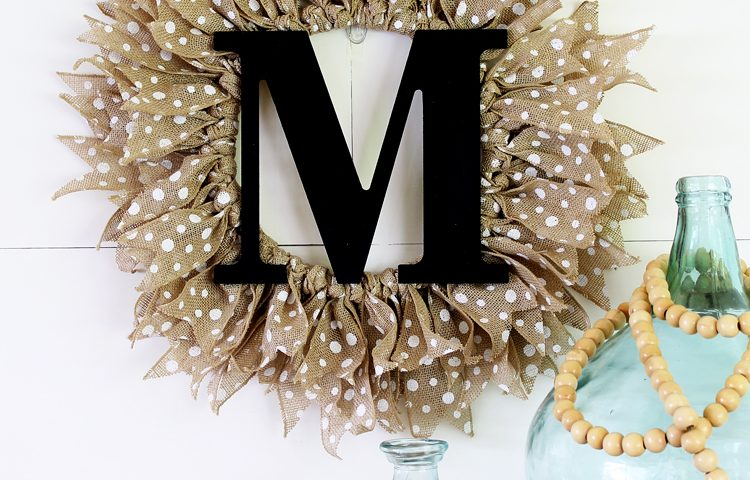 How to make a monogrammed burlap wreath