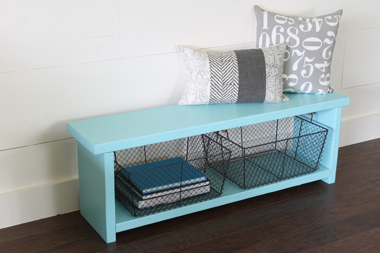 Merveilleux Farmhouse Storage Bench