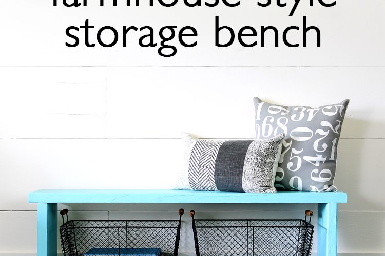 How to Build a Farmhouse Style Storage Bench