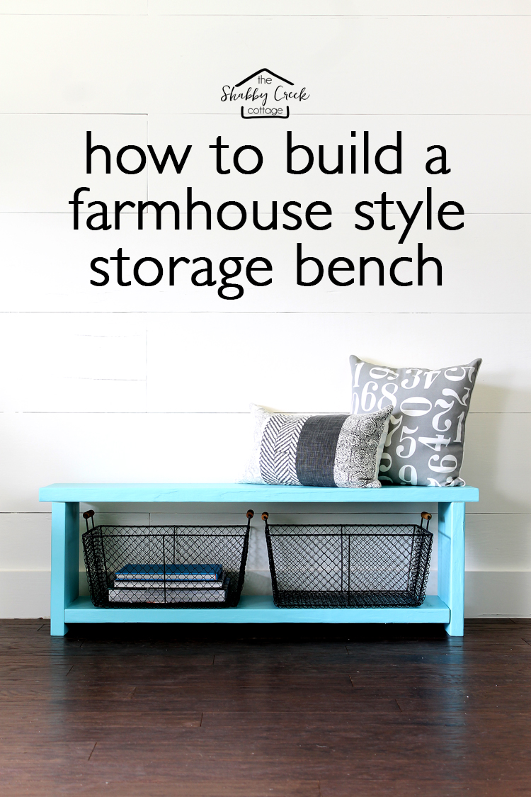 Great Tutorial On How To Build A Storage Bench   One Board... One