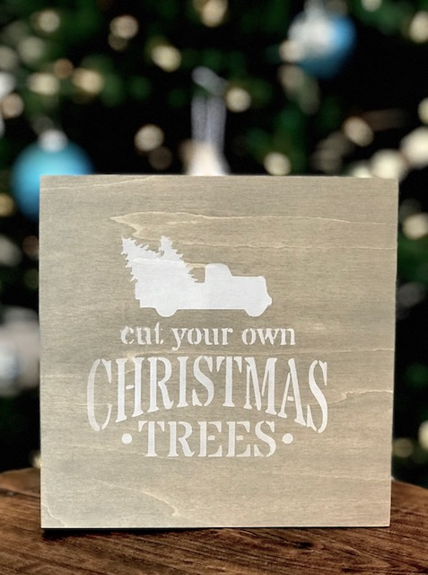 how to make your own stenciled Christmas sign in about 15 minutes