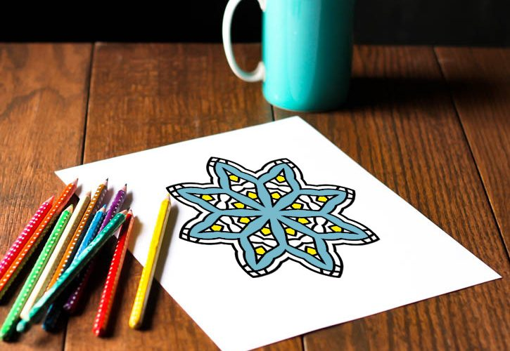 Six Free Printable Snowflake Adult Coloring Pages