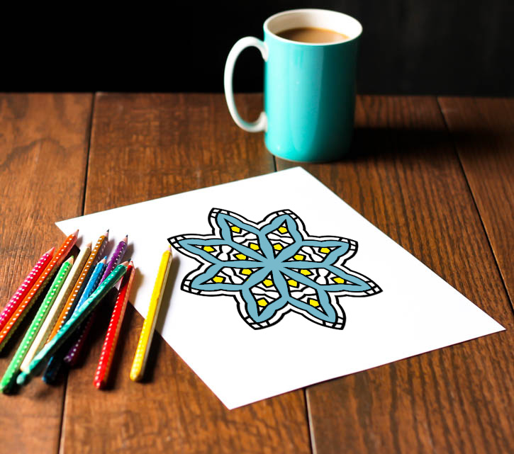 Lovely set of six free printable Christmas adult coloring pages - love all the snowflake patterns!