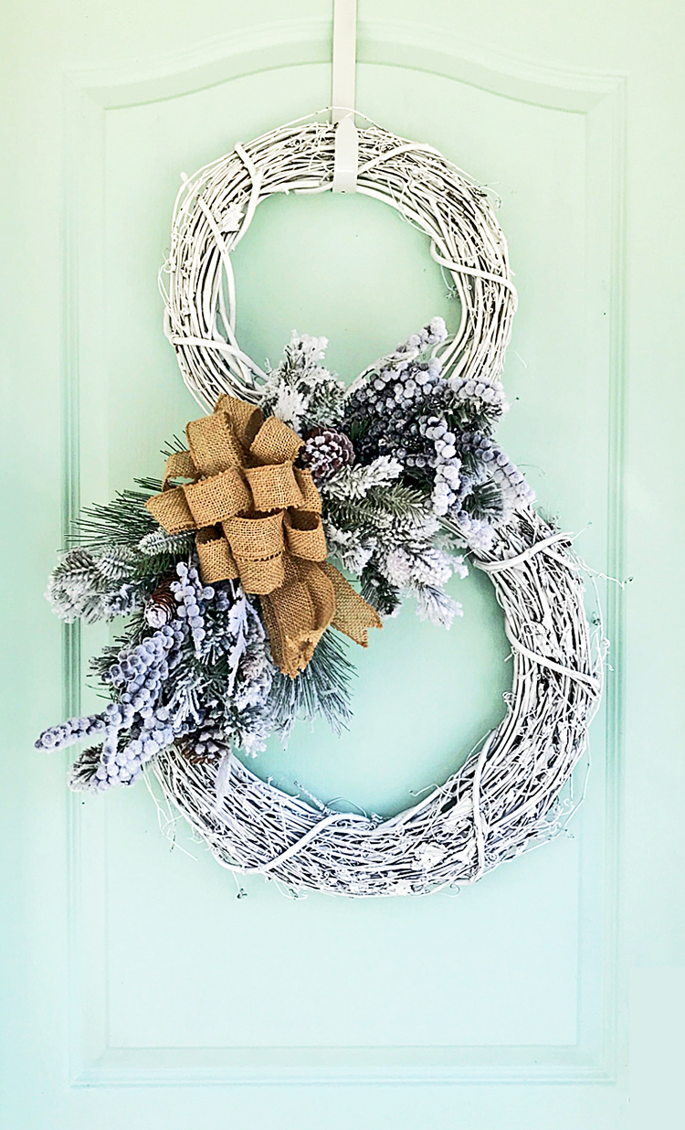 How to make a snowman wreath - full video tutorial