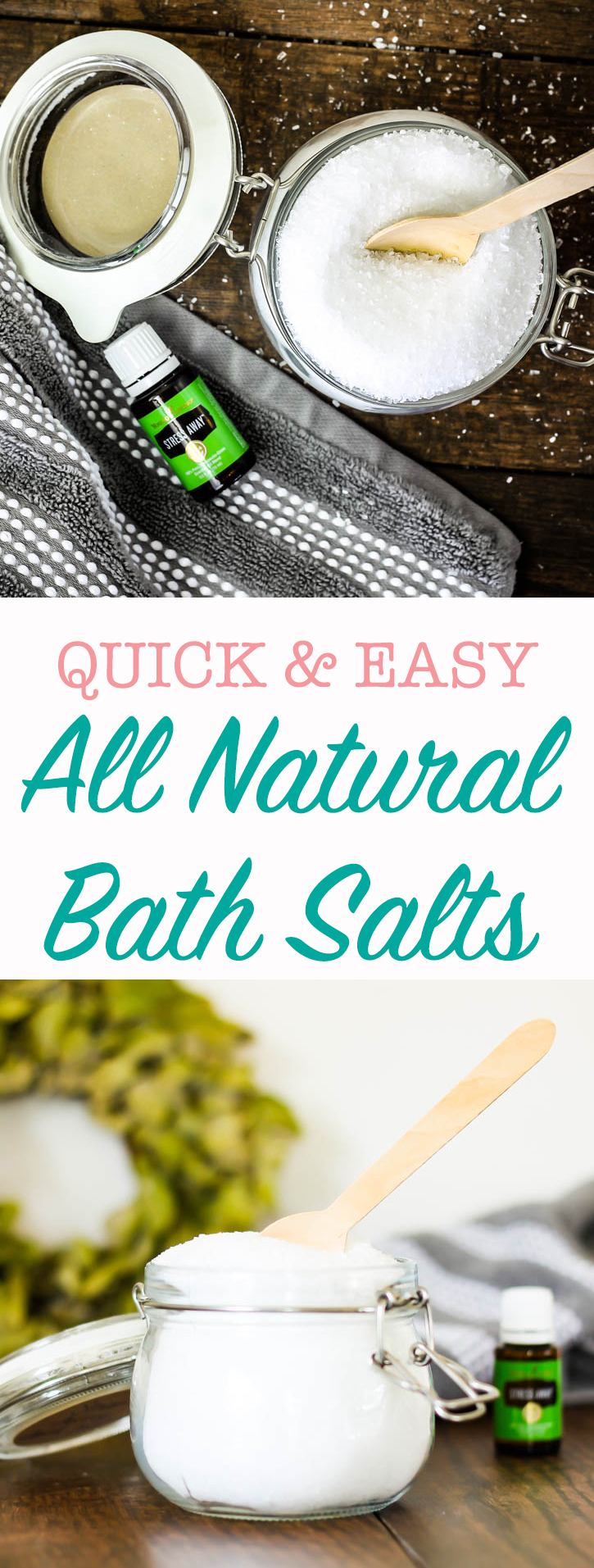 how to make your own natural bath salts - it's so easy! 2 ingredients & about 2 minutes!