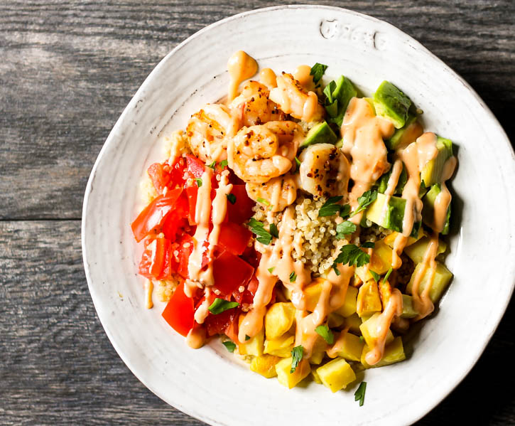Love bang bang shrimp? These buddha bowls are an awesome spin on it!