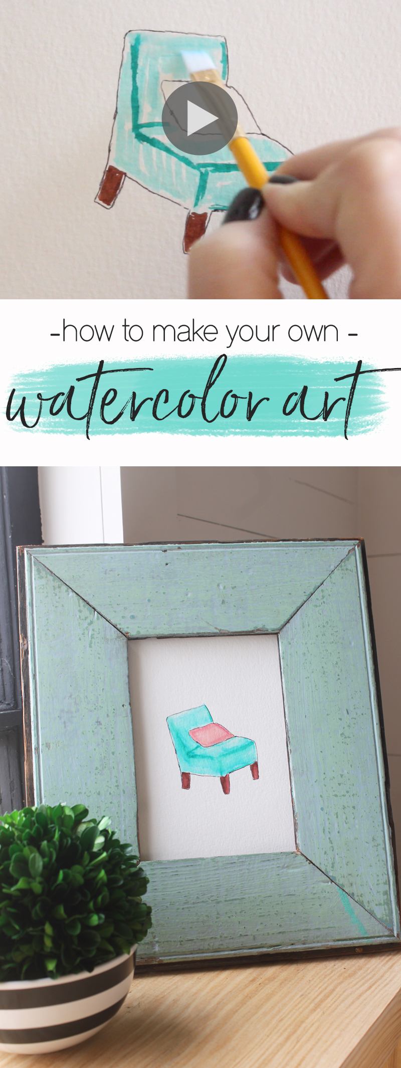 how to make easy watercolor paintings