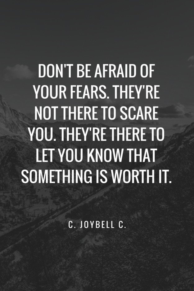 Letting go of fear - powerful words!