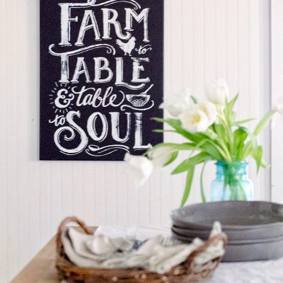 Farmhouse Kitchen Decor in 15 minutes
