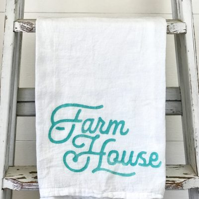 How to Make Farmhouse Kitchen Towels in Five Minutes