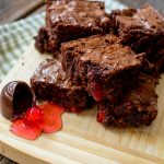 Chocolate Covered Cherry Brownies - oh my these look SO good!