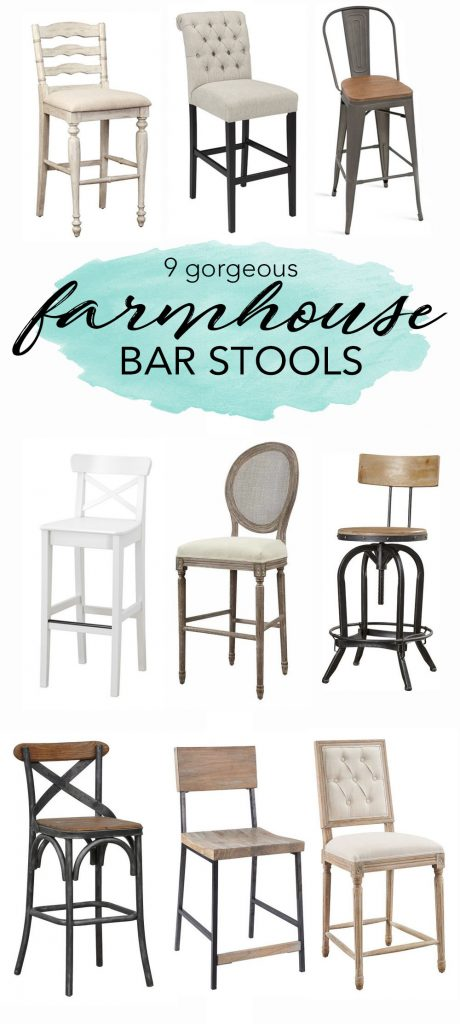 These gorgeous farmhouse bar stools would be perfect in any farmhouse kitchen!