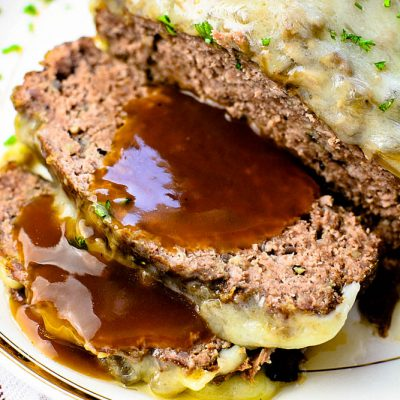 Mushroom Swiss Meatloaf