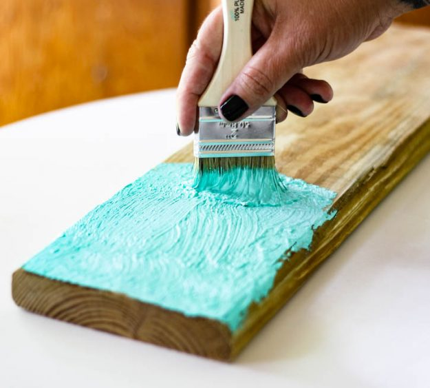 How to Make Your Own Salt Paint - such a great technique for that chippy, beach vibe on almost anything. Super easy how-to with salt paint recipe.