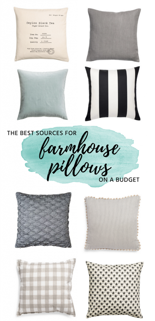 Where to find the best farmhouse pillows on a budget