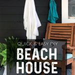 Learn how to make this quick and easy beach house sign in literally minutes! It's so easy that anyone can do it - no fancy craft machine needed. #beachhouse #beachcottage #diysigns #diyproject