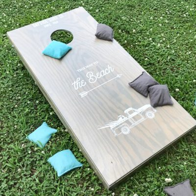 Great easy DIY version of how to make custom corn hole boards - step by step process that walks you through it from beginning to end. Awesome beginner project