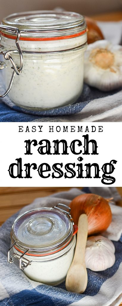 Quick and easy homemade buttermilk ranch dressing recipe that's better than store bought!