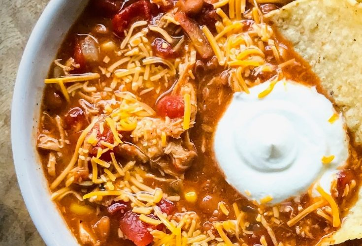 The Best Slow Cooker Chicken Taco Soup