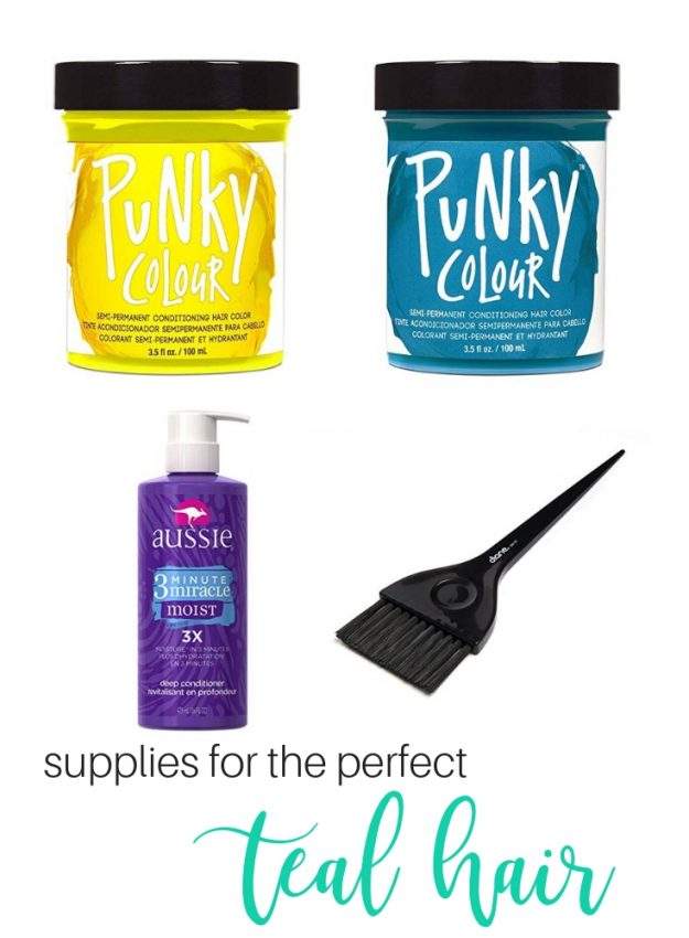 the supplies you need for the perfect teal hair color