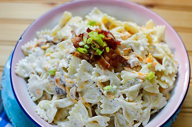 How to make the best ever Bacon Ranch Pasta Salad