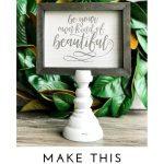 how to make quick and easy farmhouse signs in seconds with Chalk Couture. Create gorgeous designs by simply placing a transfer, adding paste, then peeling up to reveal beautiful farmhouse signs in seconds! Easy to do and beautiful, too! #chalkcouture #diyideas #diysigns #diyproject #craftideas