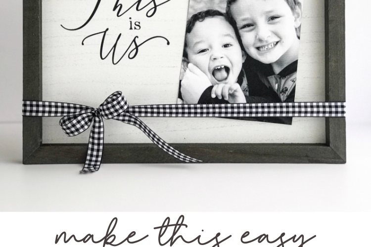 Make this DIY picture frame in minutes with the help of Chalk Couture. It's so easy, any level of DIYer or crafter can create this gorgeous high-end looking piece in minutes!