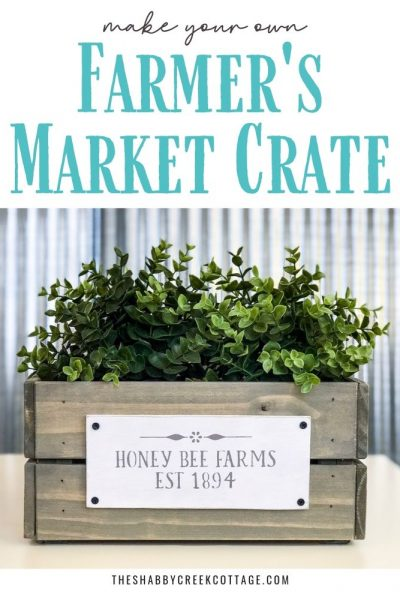 Love the look of market crates but not the price on them? Transform basic craft store wooden crates into gorgeous farmer's market crates in minutes!