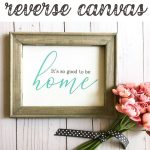 Grab a cheap craft store canvas to create this gorgeous reverse canvas in minutes! And it's even easier with the help of Chalk Couture!