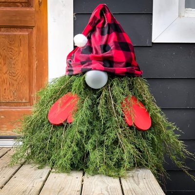 Easy DIY Evergreen Gnome