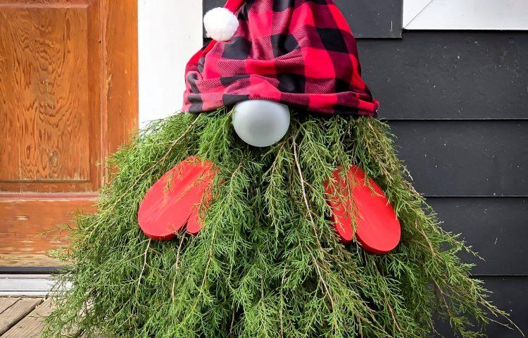 Easy DIY Evergreen Gnome