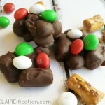 Easy Slow Cooker Chocolate Peppermint Pretzel Clusters PM3